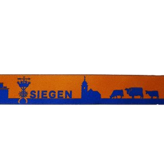 Webband Siegen blau-orange